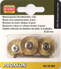 Proxxon micromot ottone spazzola a disco metallica spazzole 28962 202356/