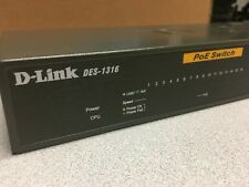 D-Link Web Smart 16-Port 10/100 with 8 PoE Switch DES-1316