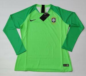Brazil Goalkeeper Jersey 2018 Green neon volt Nike Brasil Player Issue