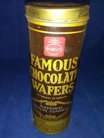 Vintage Nabisco National Biscuit Famous Chocolate Wafers Metal Tin Canister
