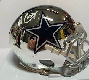 Dallas Cowboys Amari Cooper Signed Chrome Mini Helmet Fanatics Hologram