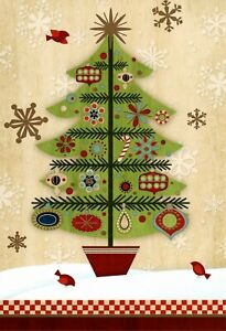Classic Holiday Evergreen Tree Trimming Red Birds Hallmark Cards - Set of 20