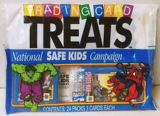 1991 Marvel Trading Card Treats Spider-Man Hulk Halloween Bags 24 3 Packs NEW!