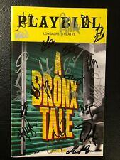 A Bronx Tale Cast Signed Broadway Playbill