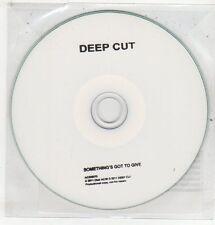 (ET691) Deep Cut, Something's Got To Give - 2011 DJ CD
