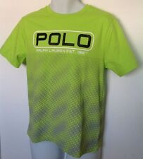 Ralph Lauren Boys SS Shirt~Lime Green/Gray~Graphic POLO~Size XL(18-20)~NWT