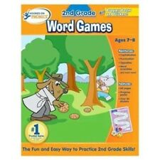 Hooked on Phonics 2nd Grade Word Games Reading Book New Workbook School