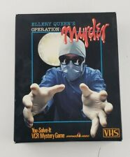 1986 Ellery Queen's Operation: Murder VHS Mystery Party Game Spinnaker You Solve