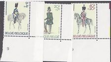 Belgium SC # B1006-1008 MNH 1981 Police and Horses