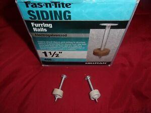 Box of 400 HILLMAN FASTENERS Siding Furring Nails Smooth 1.5 inch FNW-112 Stucco