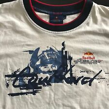 NWOT Red Bull Racing David Coulthard White T Shirt Mens S Formula One F1