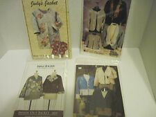 Four patchwork jacket pattern collection various sources