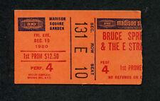 1980 Bruce Springsteen concert ticket stub Madison Square Garden The River Tour