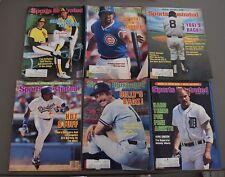 LOT OF (6) SPORTS ILLUSTRATED MAGAZINES BASEBALL COVERS 1984-1985 BOX 42 YOGI
