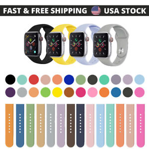 Silicone Band Strap for Apple Watch Series 6/5/4/3/2/1/SE Sports 38/40/42/44mm