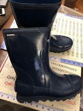 NEW SOREL NL2521-464 Women's Joan Rain Tall Gloss Boot NAVY GLOSSY SZ9.5 USUK7.5