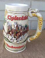 Anheuser Busch VTG Clydesdale Horse Ponies Ceramarte Brazil Beer Stein Mug
