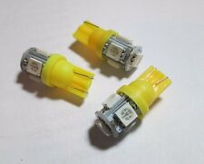 T10 194 168 2825 5 x 5050 SMD LED Yellow Super Bright Car Lights Lamp Bulb (4)