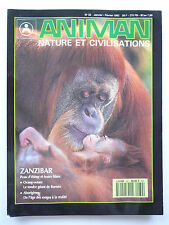 "Presse - Magazine - Revue ANIMAN - ""Nature et Civilisations"" - n° 32 - 1992"