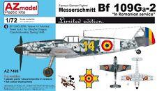 MESSERSCHMITT Bf 109 G-2/Ga-2/G-2/R6(ROMANISCHE MARKIERUNG)1/72 AZ MODEL NEUHEIT
