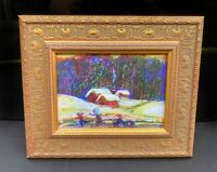 Rare Limited Miniature Print titled Ice Skating by Lucien Daigneault fine art