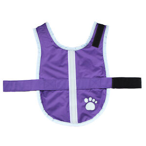 Warm Reversible Dog Cat Vest Coat Jacket Reflective Fleece Pet Dog Clothes XS-XL