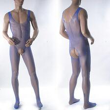 Nuevo S-XL para hombres sexy Fishnet ver a través de Body Leotardo ropa interior todo en 1 Gym10