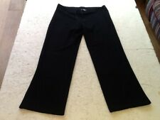 M & S-WOMAN-COMFORT TROUSERS / LOUNGERS-SIZE 14=W 34-36in x L30-COTTON-BLACK-NEW