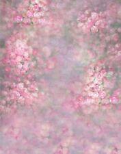 PINK ROSE FLOWER FLORAL BUSH CUTE BABY BACKDROP VINYL PHOTO PROP 5X7FT 150X220CM