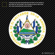Salvadoran Coat of Arms Sticker Decal Self Adhesive Vinyl El Salvador flag SLV