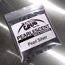 NEW 1 OZ. PEARL SILVER Pearlescent Luster Mica Powder Fishing Plastisol