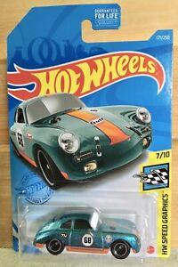 2021 Hot Wheels: Porsche 356 Outlaw (Gulf Deco) *Super Treasure Hunt* w Protecto