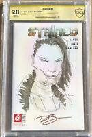 Stained #1 451 Media 2017 Signed/Sketch David Baron CBCS 9.8