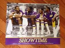 "LA LAKERS SHOWTIME POSTER 11""x 14""- FREE SHIPPING"