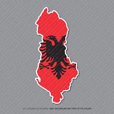 Mapa De Albania Bandera Pegatina-Coche-Laptop-Macbook Notebook - 2958