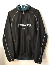 San Jose Sharks Reebok Center Ice Men's Small S 1/2 Zip Pullover Jacket
