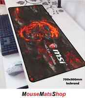 MSI Extra Large Gaming Mouse Mat Pad Anti-Slip For PC Laptop Office Desk 70X30CM