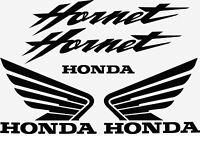 Honda Hornet Adhesive Black Stickers for Motorbike Tuning - Kit of 5