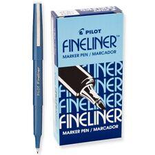 11014 Pilot Fineliner Marker Pen, Fine Fiber Tip, Blue Ink, Pack of 25
