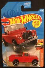 Hot Wheels Red Land Rover Series III Pickup 1:64 Diecast HW Hot Trucks 3/10 New
