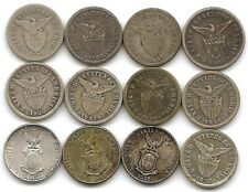 Philippines Lot of 12 Different Silver 10 Centavos Coins 1907 - 1945 US Terty.