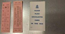 ORIGINAL Unissued 1962 Glasgow LAST TRAM Tickets and Fare Box Stickers. Mint con