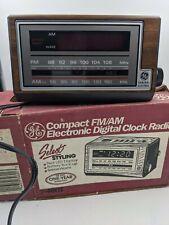 GE  Digital AM FM Radio Alarm Clock 7-4601 Vintage New