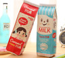 Creative Simulation Milk Cartons PU Pencil Case Kawaii Stationery Pouch Pen Bag