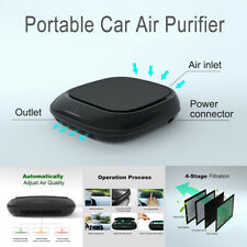 Car Air Purifier True Hepa Ionizer Portable Aromatherapy Diffuser for Smoke Dust