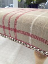 Footstool In laura Ashley Keynes, Cranberry. New