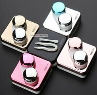 Contact Lens Case Mini Storage Travel Box Container Tool + Mirror & Accessories