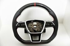 Audi S-LINE Sports Steering Wheel Carbon A6 4K C8 A7 S7 4KF A4 With