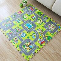 9pcs Baby Kids Play Room Floor Mat EVA Foam Crawl Jigsaw Puzzle Carpet City Road