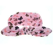 Baby Girl Rabbit Ears Hairband Bow Knot Headband Elastic Turban Headwrap 2016 Pink